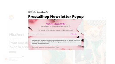 PrestaShop GDPR Checkbox